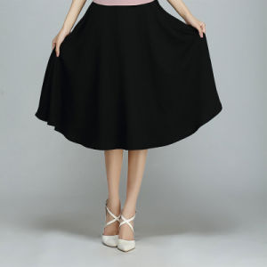 Plain All-Match Cotton&Linen Simple Full Skirt pictures & photos