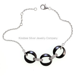 925 Sterling Silver Ceramic Jewelry Fashion Bracelet (T20054) pictures & photos