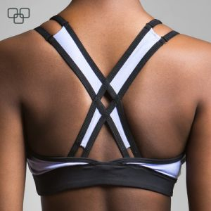 Wholesale Black Breathable Summer Women Padded Sport Bra pictures & photos