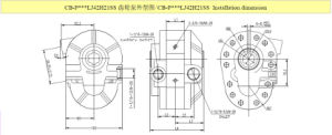 Pto Hydraulic Gear Oil Pump for Dump Truck pictures & photos