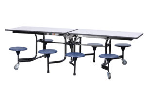 Folding Student Dining Table/ School Furniture for Wholesale pictures & photos