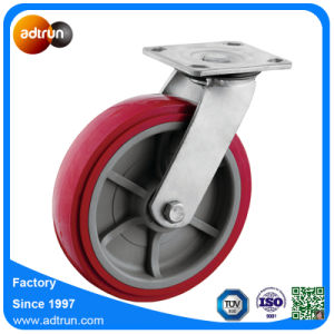 """Heavy Duty 8"""" Top Plate Caster PU Wheels for Industrial Equipment pictures & photos"""