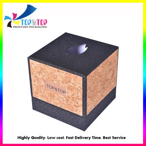 Square Barky and Glitter Paper Boxes for Perfumes and Candles pictures & photos