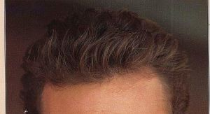 Virgin Hair Hand Knotted Men′s Hair Replacement Toupee pictures & photos
