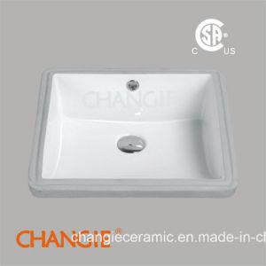 Squre Ceramic Undercounter Sinks with Cupc (1631)