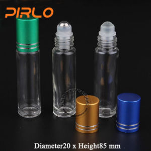 10ml 0.33oz Clear Glass Roll on Bottle with Glass/Stainless Steel Roller Deodorant Perfume Bottle Glass Roll on Bottle pictures & photos