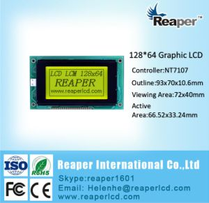 Graphic LCD 128X64 COB Type Stn Yellow-Green Graphice LCD Module pictures & photos