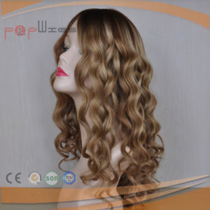 Ombre Human Hair Silk Top Women Wig (PPG-l-01780) pictures & photos