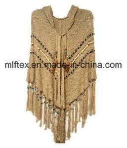 V-Round Knitted Sweater for Women pictures & photos