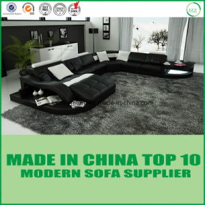 European Style Divany Leather Sofa with Wooden Frame pictures & photos