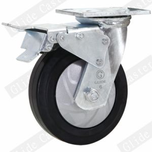 Heavy Duty Nylon Core Elastic Rubber Swivel Caster (G4403D) pictures & photos