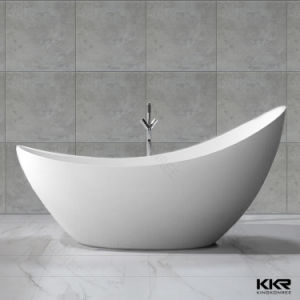 Quality White Artificial Stone Solid Surface Freestanding Bathtub pictures & photos