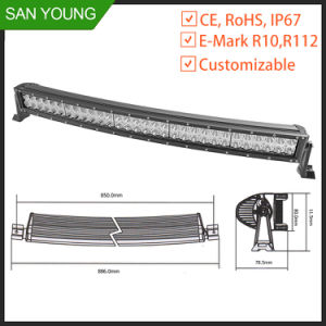 Curved LED Light Bar 30 Inch 180W 4X4 Offroad Driving Extrusion LED Light Bar pictures & photos