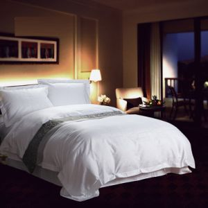 Luxury Full Size White Plain Cotton 200tc Egypitan Cotton Bedding (JRD950)
