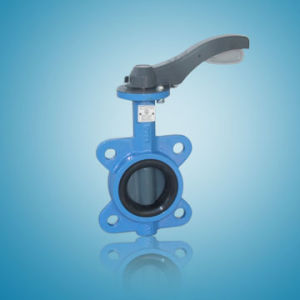 Cast Iron Wafer Type Soft Seal Butterfly Valves