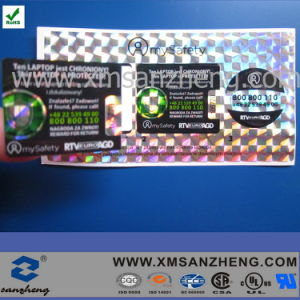 Custom Shiny Glossy Permanent Solvent Resistant Sticky Clear Holographic Stickers pictures & photos