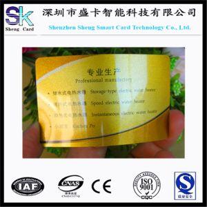 PVC Glod Base Glossy Plastic Business Card