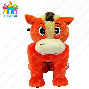 Plush Stuffed Zippy Battery Walking Horse Electric Animal Toy Ride pictures & photos