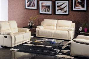 Modern Recliner Leather Sofa (740#) pictures & photos