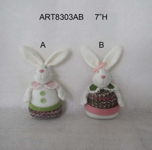 Easter Decoration Boy and Girl Bunny Gift-2 Asst pictures & photos