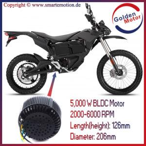 5kw 48V/72V/96V BLDC Brushless Electric Motorcycle Motor pictures & photos