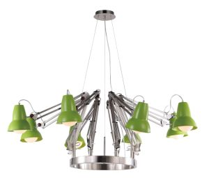 Modern Nickel Body Designer Pendant Lighting with Green Shade (MD6138-8G) pictures & photos