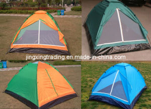 190t Popular 100% Polyester Camping Tent for 3-4 Persons (JX-CT013) pictures & photos
