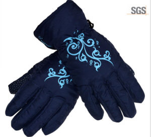 Adults Printing Winter Glove for Supermarket