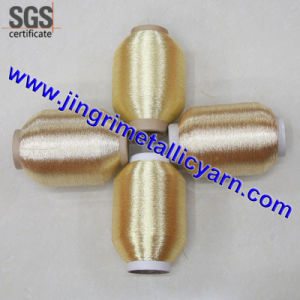 Pure Silver Pure Gold Metallic Yarn with Cotton or Polyesor Viscose Rayon Core pictures & photos