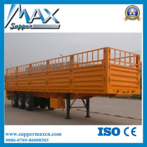 3 Axle 30t Side Wall Cargo Trailer, Fence Semi Trailer for Sale pictures & photos