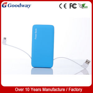 5000mAh Polymer Power Bank with Built-in Cable