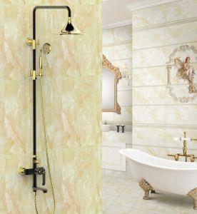 New Black Design Ceramic Single GS3185h Antique Brass Rain Shower Set pictures & photos
