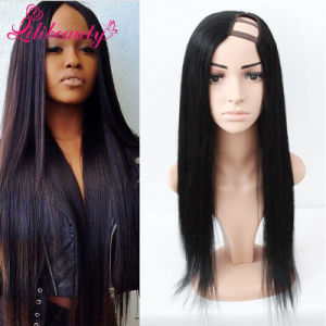U Part Front Lace Wig with Human Hair pictures & photos