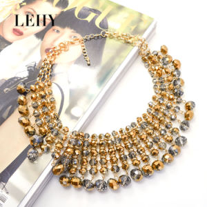 Fashion Gold-Plated Glass Hot Custom Design Jewelry Choker for Women pictures & photos