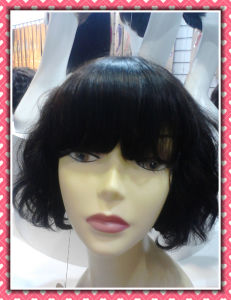 Curly Hair Short Hair Wigs Full Lace Wig 8inches Synthetic Hair pictures & photos