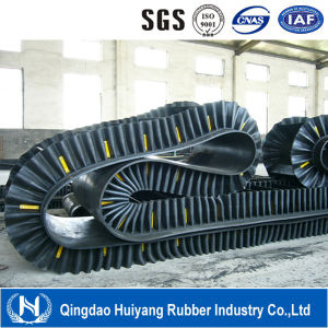 Reinforced Corrugated Sidewall Rubber Conveyor Belt pictures & photos