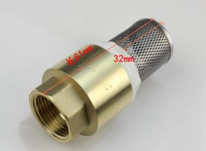 China Valve Lead-Free Brass Spring Loaded in-Line Check Valve