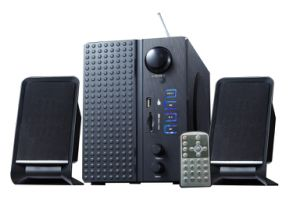 Multimedia Speaker Read USB Device, Support FM, Remote and Bass Button pictures & photos