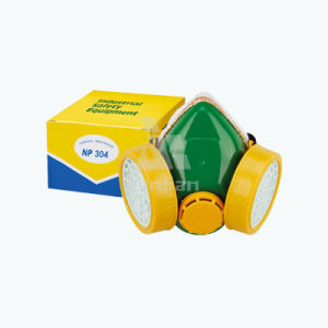 Double Filter Oxygen Gas Industrial Breathing Respirator Toxic Air Purifying Carbon Mask pictures & photos