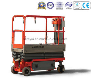 Electric Drive Scissor Awp Aerial Working Platform pictures & photos