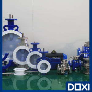 OEM Dn25 Low Leakage PFA Butterfly Valve pictures & photos