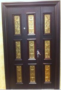Mother-Son Steel Security Copper Door pictures & photos