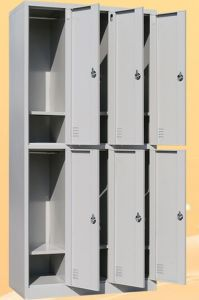 6-Door 4 Layers Metal Office Storage Wardrobe Lockers/Cabinet/Steel Furniture pictures & photos