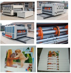 Semi-Automatic Flexo Printing and Slotting Machine (Chain feeder) pictures & photos