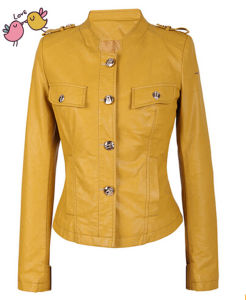 New Designer Moto PU Jackets for Ladies pictures & photos