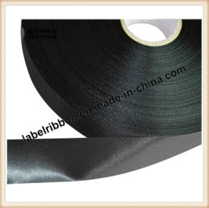 Printing Slit Edge Polyester Satin Single /Double Side (PS1212-BLK) pictures & photos