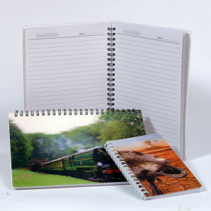 Lenticular 3D Cover Spiral Notebook A5 pictures & photos
