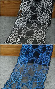 High Quality Elastic Embroidery Flower Lace for Decoration pictures & photos