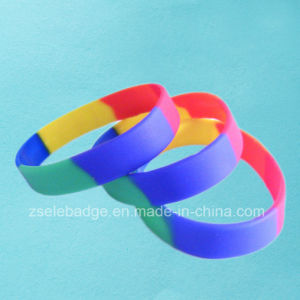Camouflage Color Silicone Wristband (Ele-WS010) pictures & photos