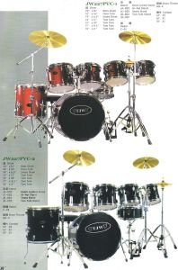 7PCS Drum Sets, Drum Kits (JW227PVC-1, JW227PVC-2)